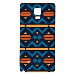 Rhombus  Circles And Waves Pattern			samsung Note 4 Hardshell Back Case by LalyLauraFLM