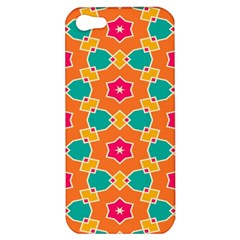 Pink Flowers Pattern			apple Iphone 5 Hardshell Case by LalyLauraFLM