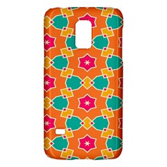 Pink Flowers Pattern			samsung Galaxy S5 Mini Hardshell Case by LalyLauraFLM