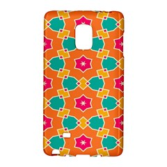 Pink Flowers Patternsamsung Galaxy Note Edge Hardshell Case by LalyLauraFLM