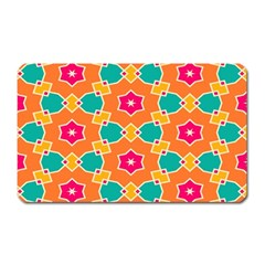 Pink Flowers Patternmagnet (rectangular) by LalyLauraFLM