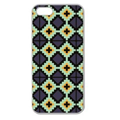 Pixelated Patternapple Seamless Iphone 5 Case (clear) by LalyLauraFLM
