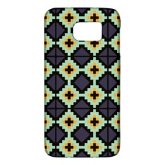 Pixelated Pattern			samsung Galaxy S6 Hardshell Case by LalyLauraFLM