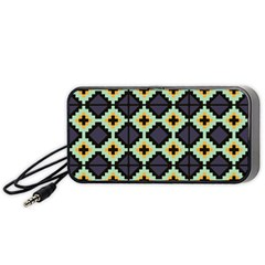 Pixelated Pattern Portable Speaker by LalyLauraFLM