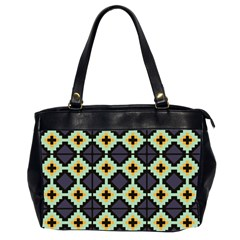 Pixelated Pattern Oversize Office Handbag (2 Sides) by LalyLauraFLM