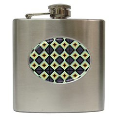 Pixelated Patternhip Flask (6 Oz) by LalyLauraFLM
