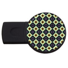 Pixelated Pattern			usb Flash Drive Round (4 Gb) by LalyLauraFLM
