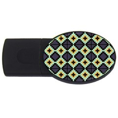 Pixelated Pattern			usb Flash Drive Oval (4 Gb) by LalyLauraFLM