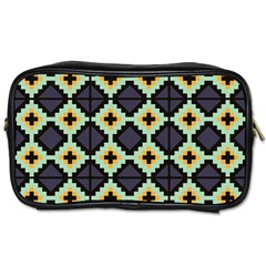 Pixelated Patterntoiletries Bag (one Side) by LalyLauraFLM
