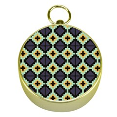Pixelated Pattern			gold Compass by LalyLauraFLM
