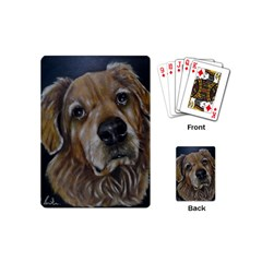 Selfie Of A Golden Retriever Playing Cards (mini)  by timelessartoncanvas