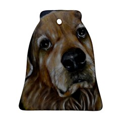 Selfie Of A Golden Retriever Ornament (bell)  by timelessartoncanvas