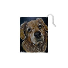 Selfie Of A Golden Retriever Drawstring Pouches (xs)  by timelessartoncanvas