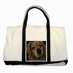 Selfie Of A Golden Retriever Two Tone Tote Bag  by timelessartoncanvas