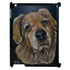 Selfie Of A Golden Retriever Apple Ipad 2 Case (black) by timelessartoncanvas