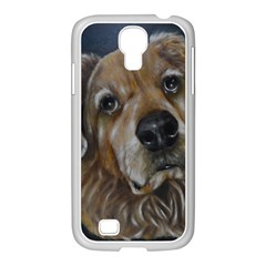 Selfie of A Golden Retriever Samsung GALAXY S4 I9500/ I9505 Case (White) by timelessartoncanvas