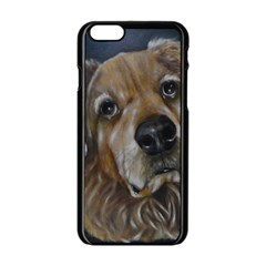 Selfie Of A Golden Retriever Apple Iphone 6/6s Black Enamel Case by timelessartoncanvas