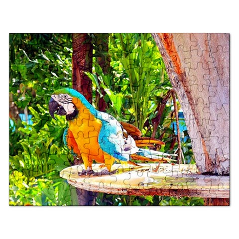 Blue  By Pamela Sue Goforth   Jigsaw Puzzle (rectangular)   96oqruc5r7af   Www Artscow Com Front