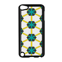 Blue Stars And Honeycomb Pattern			apple Ipod Touch 5 Case (black) by LalyLauraFLM