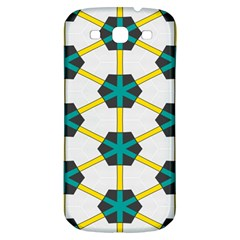 Blue Stars And Honeycomb Patternsamsung Galaxy S3 S Iii Classic Hardshell Back Case by LalyLauraFLM