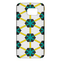 Blue Stars And Honeycomb Pattern			samsung Galaxy S6 Hardshell Case by LalyLauraFLM