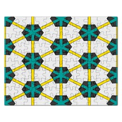 Blue stars and honeycomb pattern			Jigsaw Puzzle (Rectangular) by LalyLauraFLM