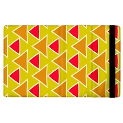 Red Brown Triangles Pattern			apple Ipad 2 Flip Case by LalyLauraFLM