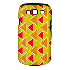 Red Brown Triangles Patternsamsung Galaxy S Iii Classic Hardshell Case (pc+silicone)