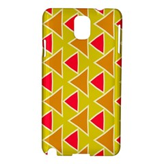 Red Brown Triangles Pattern			samsung Galaxy Note 3 N9005 Hardshell Case by LalyLauraFLM