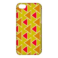 Red Brown Triangles Pattern			apple Iphone 5c Hardshell Case by LalyLauraFLM