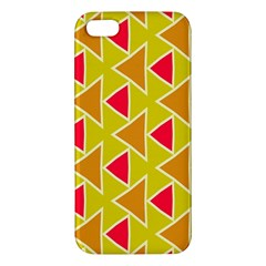 Red Brown Triangles Pattern			iphone 5s Premium Hardshell Case by LalyLauraFLM