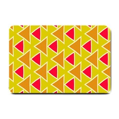 Red Brown Triangles Pattern			small Doormat by LalyLauraFLM