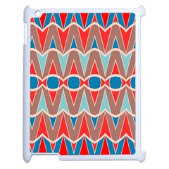 Rhombus And Ovals Chains			apple Ipad 2 Case (white) by LalyLauraFLM