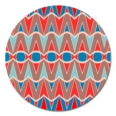 Rhombus And Ovals Chainsmagnet 5  (round) by LalyLauraFLM