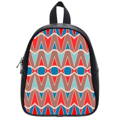Rhombus And Ovals Chains			school Bag (small) by LalyLauraFLM
