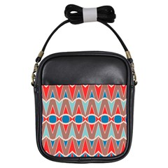 Rhombus And Ovals Chains			girls Sling Bag by LalyLauraFLM
