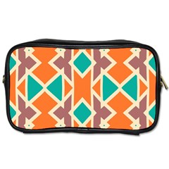Rhombus Triangles And Other Shapes Toiletries Bag (two Sides) by LalyLauraFLM
