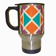 Rhombus Triangles And Other Shapes Travel Mug (white) by LalyLauraFLM