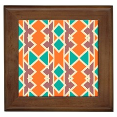 Rhombus Triangles And Other Shapesframed Tile by LalyLauraFLM