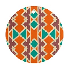 Rhombus Triangles And Other Shapes			ornament (round) by LalyLauraFLM