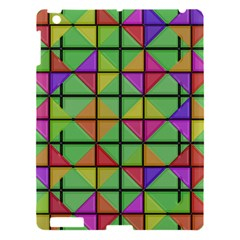 3d Rhombus Pattern			apple Ipad 3/4 Hardshell Case by LalyLauraFLM