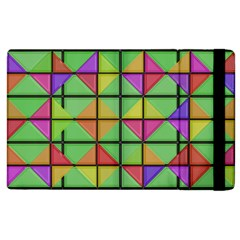 3d Rhombus Pattern			apple Ipad 3/4 Flip Case by LalyLauraFLM