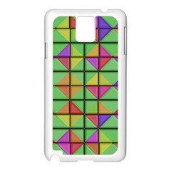 3d Rhombus Patternsamsung Galaxy Note 3 N9005 Case (white) by LalyLauraFLM