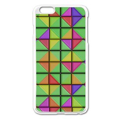 3d Rhombus Pattern			apple Iphone 6 Plus/6s Plus Enamel White Case by LalyLauraFLM