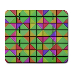 3d Rhombus Pattern			large Mousepad by LalyLauraFLM
