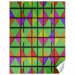 3d Rhombus Pattern			canvas 12  X 16  by LalyLauraFLM