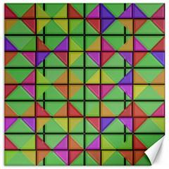 3d Rhombus Patterncanvas 16  X 16  by LalyLauraFLM