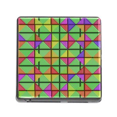 3d Rhombus Patternmemory Card Reader (square) by LalyLauraFLM