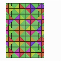 3d Rhombus Pattern Small Garden Flag by LalyLauraFLM