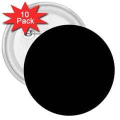Black Gothic 3  Buttons (10 pack)  by Costasonlineshop